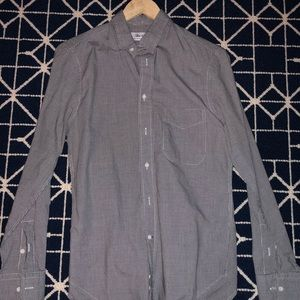 Men's Blue & Cream Button Down